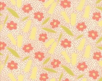 Fig Tree Fabric - Ella and Ollie Fabric Yardage - Moda Quilt Fabric - Milk - Cream Floral Fabric By The 1/2 Yard -