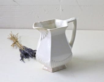 Ironstone pitcher White Ironstone pitcher