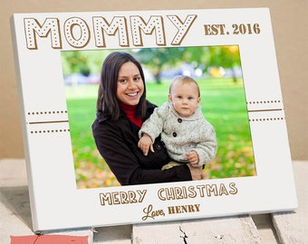 Mommy's First Christmas - Mommy Christmas Gift - Christmas Gifts for Mom - Picture Frame for Mom - Christmas 2017 - Mom's First Christmas