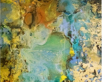 "What is Possible. Original encaustic oil painting. 20""x20"""