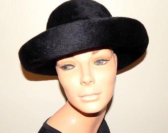 Vintage, Black Ladies Hat, Miss Eileen Originals