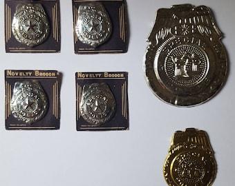 Novelty Vintage Sheriff's badges pressed tin