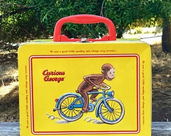 15 % off CURIOUS GEORGE LUNCHBOX circa 1980s for your shabby chic decor