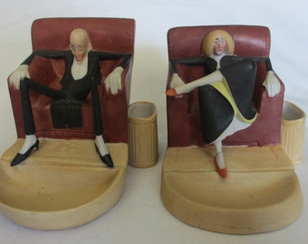 2 Porcelain,  Made In Germany Figurines
