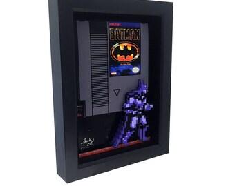 Nintendo Batman NES Batman Nintendo Art Nintendo Cartridge Retro Video Game Decor Video Game Art Batman Art Batman 1989 Print Nintendo Print