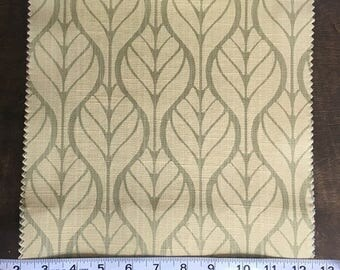 Custom Curtains Valance Roman Shade Shower Curtains in Avocado Leaf Pattern Fabric