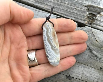 Crazy Lace Agate Side Drilled Pendant Focal Bead Cabochon