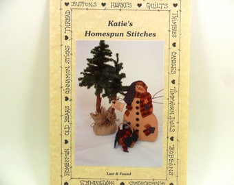 Snowman Sewing Pattern Lost and Found by Katie's Homespun Stitches