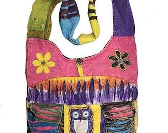 25%Off Hippie Hobo Sling Cross body Owl Bag