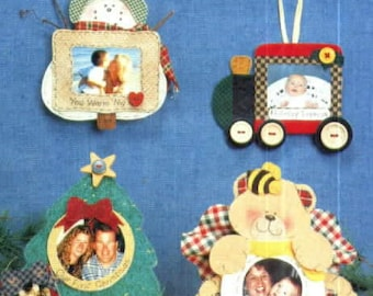 Get the Picture No-Sew Photo Frame Ornaments or Magnets by Luv 'n Stuff