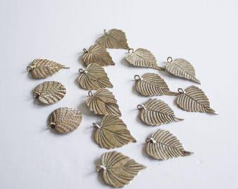 Hill Tribe Leaf Pendant - 15 count