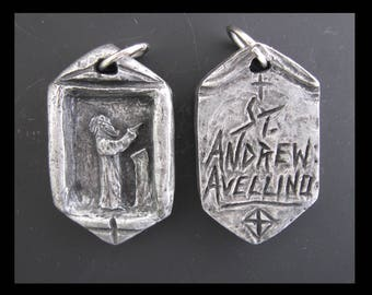 St. Andrew Avellino: Patron of Stroke Victims and Those Who Care for Them; Handmade Medal/Pendant