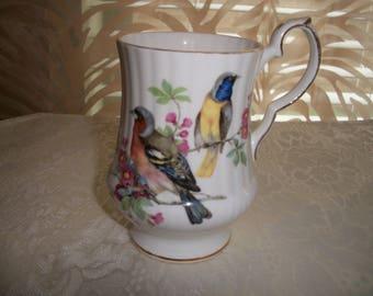 Royal Windsor Fine Bone China England, Bird Collector design, Coffee/Tea Pedestal Mug by Nanas Vintage Shop on Etsy