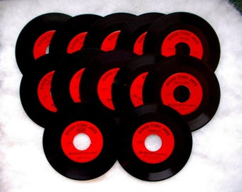 GOOD TIMES. JAZZ.  Records. 45 rpm vintage 1950s Record lot of 12 Lu Watters The Banjo Kings Firehouse Five Plus Two Bob Scobeys Frisco Band