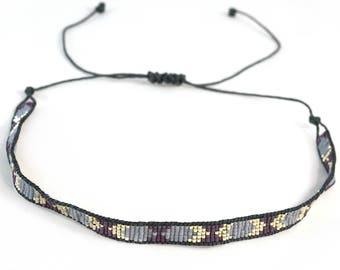 Boho Choker Collar - Purple - Boho Choker - Adjustable