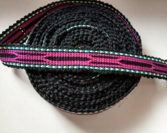 Uzbek hand woven trim Jiyak. Ethnic Boho, Hippy trim. NTR037