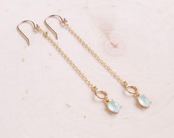 Long Earrings | Beach Jewelry | Gold Earrings | Crystal Earrings | Beach Wedding | Bridesmaids Gift | Bridal Jewelry | Summer Jewelry