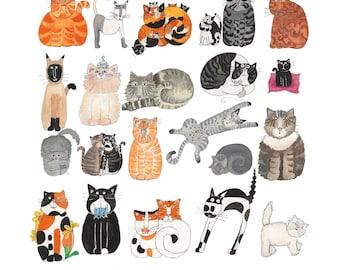 I Like Rescue Cats Print 12x12