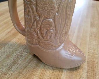 Vintage Cowboy Boot Mug Southwestern