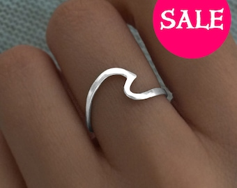 Wave Ring - SALE - Wave Ring Sterling Silver - Silver Wave Ring - Wave Rings - Gold Wave Ring - Ocean Ring - Wave Jewelry - Ocean Jewelry -
