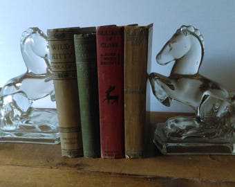 Feminine Antique Book Set with Women's Names in Titles