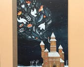 Winter Castle | Greeting / Christmas Card | Blank Inside