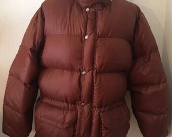 Vintage North Face Mens L Sierra goose down rust puffer jacket