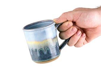 Hand thrown stoneware mug in Bayou Glaze.  SOLD INDIVIDUALLY | Wheel thrown pottery mug | Coffee mug | tea Mug | unique coffee mug |