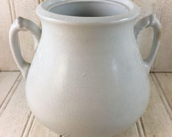 Vintage Shabby Chic J & G Meakin Ironstone Lidless Sugar Pot