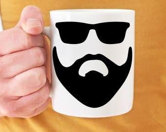Beard Mug - Coffee Mug for Men - Mountain Man Mug - Coffee Mug for Beard - Beard Gifts for Men - Boyfriend Gift - Coffee Gift for Him