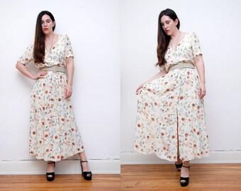 Vintage Floral Ditsy 90s Grunge Revival Tea Dress