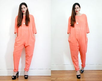 Vintage Cotton All In One Jumpsuit Trousers