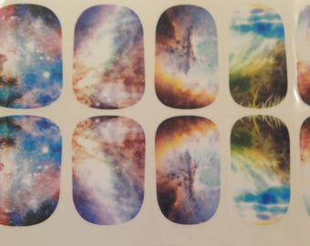 Galaxy/Nebula Nail Wraps