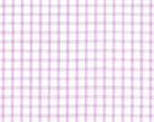 Fabric Finders LILAC Windowpane Lavender White Check print - plaid gingham light purple - cotton sewing quilting fabric - HALF YARD cut