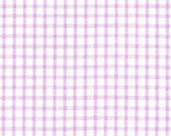 Fabric Finders LILAC Windowpane Lavender White Check print - plaid gingham light purple - cotton sewing quilting fabric - choose your cut