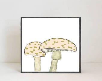 woodland nursery art, - mushroom art, nursery woodland art, tree, forest nursery art, nursery print, woodland print, redtilestudio