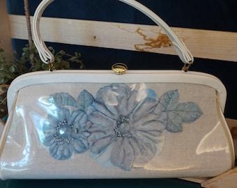 Blue Flower Handbag by Celestial by Markay