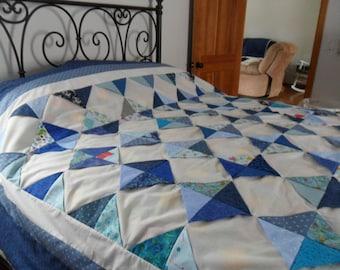 Blue Diamonds Quilt Top