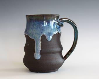Unique Coffee Mug, 12 oz, handmade ceramic cup, handthrown mug, ceramic stoneware, pottery mug, ceramic coffee mug, ceramics and pottery