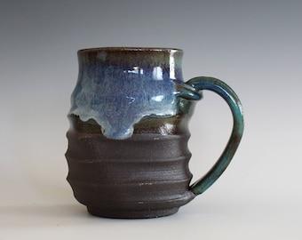 Pottery Mug, 13 oz, unique coffee mug, handmade ceramic cup, handthrown mug, stoneware mug, pottery mug, ceramics and pottery
