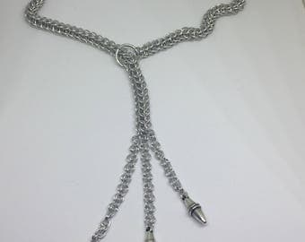 Lariat chainmaille necklace