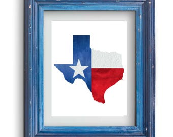 Texas State Flag Print {Digital}