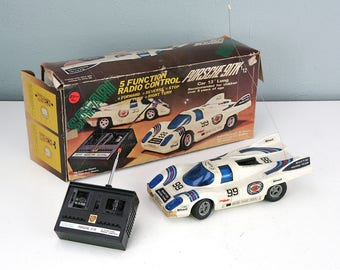 "Safari Porsche 917K Martini Racing RC Car 1/12 scale 917 Radio Control 13"" Long, Vintage Toys"