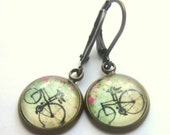 Retro Bicycle Earrings Old Fashioned Bike Earrings Mothers Day Gift Glass Boho Fashion Jewelry