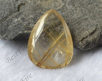 Charm Drop hairstone golden Transparent Quartz,Gold Rutilated Quartz,lodolite quartz,semi-precious stone pendant