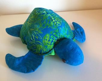 Honu(turtle) Hawaiian batik pineapple fabric