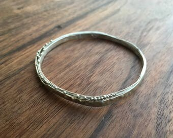 Lunar Bangle, Silver, Medium - Talisman of the night sky