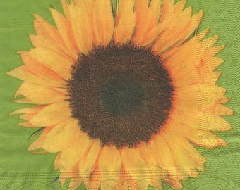 3164 paper flower sunflower theme 4 napkins