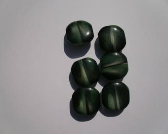 15 - Buttons different bright green 2.5 cms