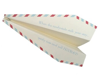 225 Custom Paper Airplanes for a Unique Wedding Ceremony or Reception Exit Sendoff
